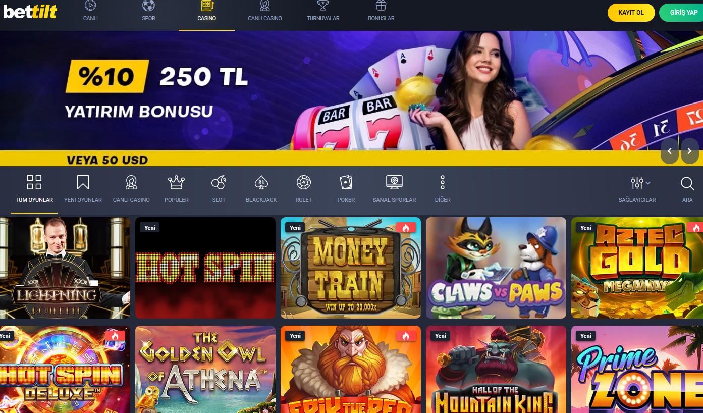 bettilt casino oyunlari nelerdir